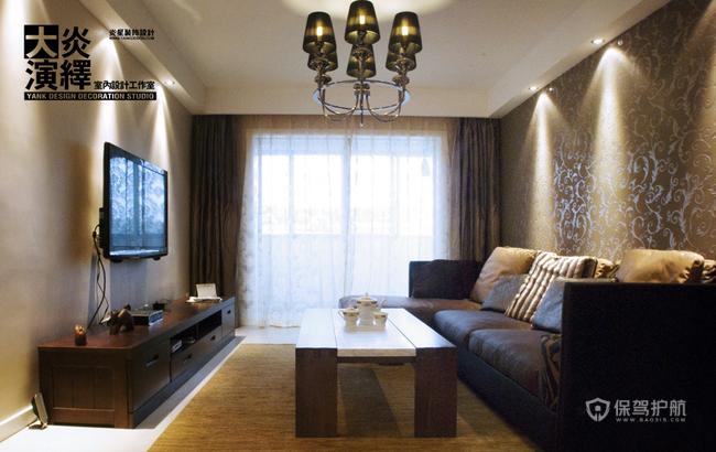 深色木质感之家 现代简欧混搭三居