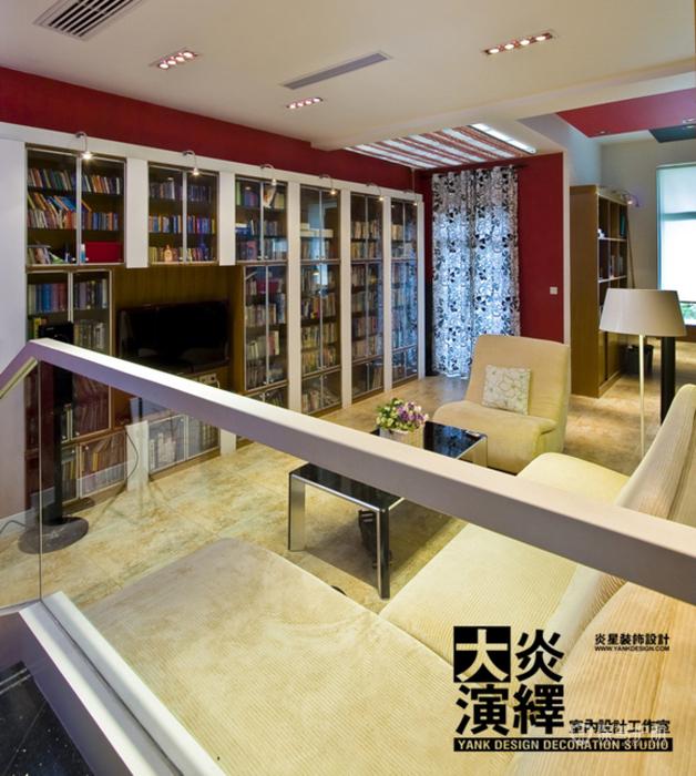 红艳艳的诱惑 时尚ZAKKA风明媚复式家 阿喜,大炎演绎,东南亚风格,混搭风格,宜家风格,简约风格,别墅装修,电视背景墙,沙发,书柜