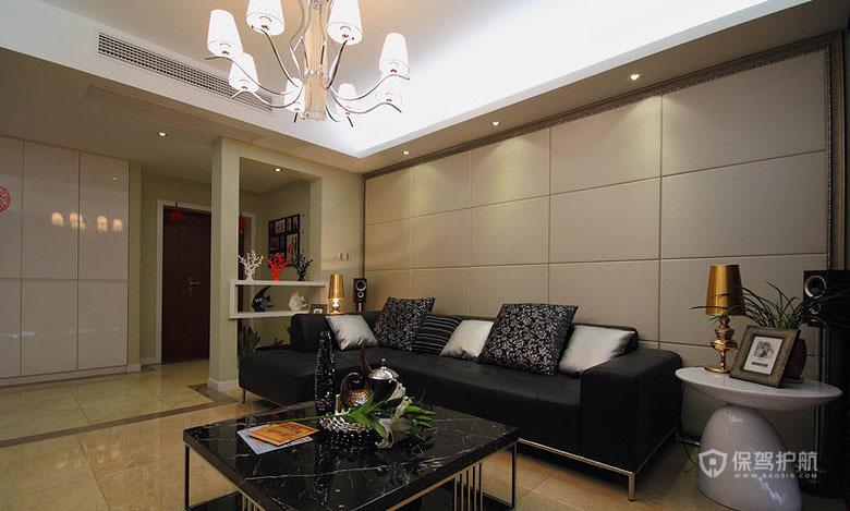 160平现代简约风三居室客厅装修效果图