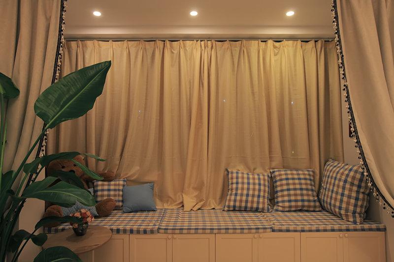 乡村风格复式楼10平米卧室榻榻米装潢…