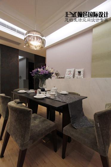 140平簡約素凈三居室餐廳裝修效果圖…