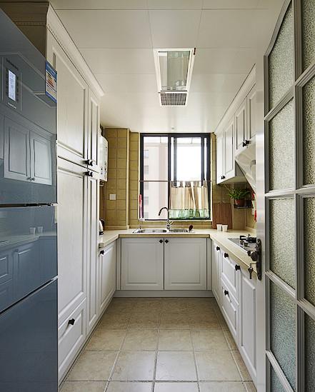 乡村风格三室两厅厨房橱柜装修效果图…