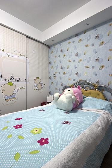 現代新古典混搭三居室可愛兒童裝修效…