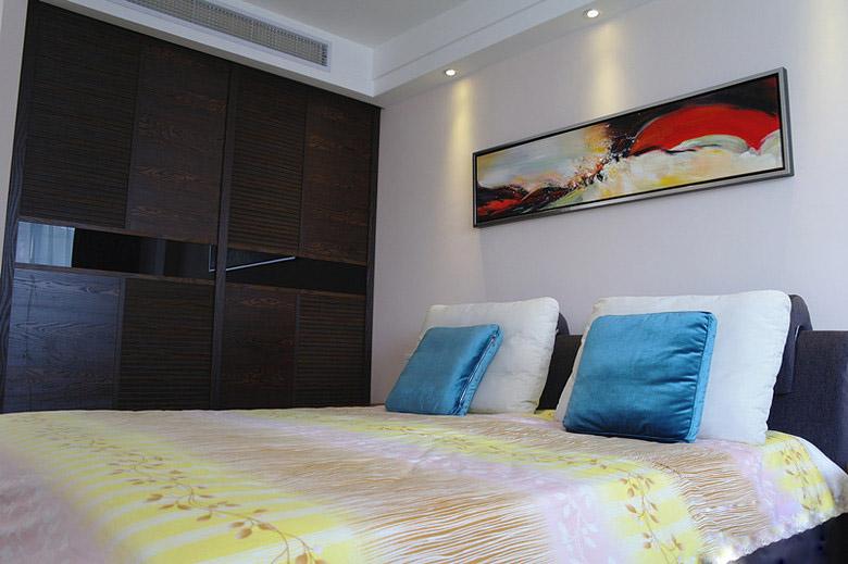 混搭风格一室一厅10平米卧室墙面艺术…