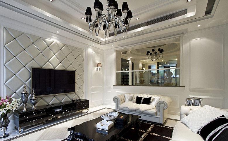 银色的优雅 奢华新古典跃层大户型
