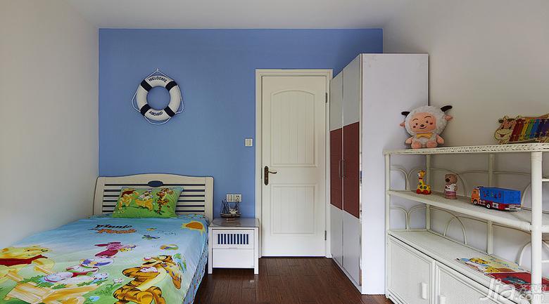 美式鄉村風格復式樓兒童房裝修效果圖…