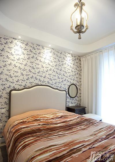 80平蓝色地中海二居室卧室装修效果图