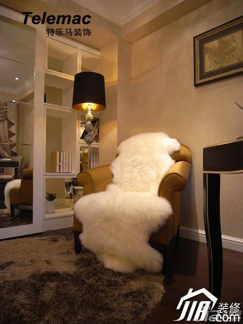 欧式华丽样板间 新古典璀璨二居室 欧式风格,二居室装修,公寓装修,暖