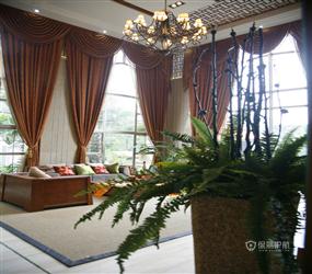 600平米别墅东南亚风格客厅沙发背景墙装修效果图,东南亚风格双人沙发图片