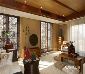 东南亚风格卧室背景墙装修图片