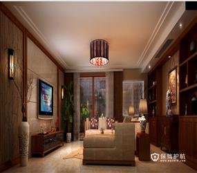 310㎡别墅东南亚风格露台阳光房装修效果图