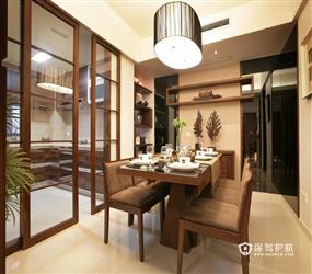 90㎡楼房现代风格厨房隔断装修图片
