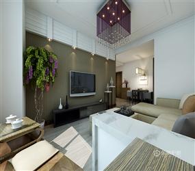 90m²现代风格二居玄关装修效果图,现代风格玄关柜图片