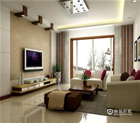 90㎡三居室现代简约风格玄关隔断装修效果图