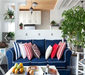 90㎡二居室地中海风格厨房装修图片