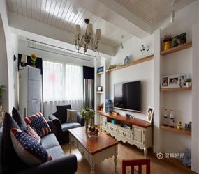90㎡三居室地中海风格厨房装修图片