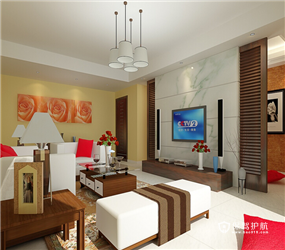 三室两厅一卫装90平卫生间装修效果图