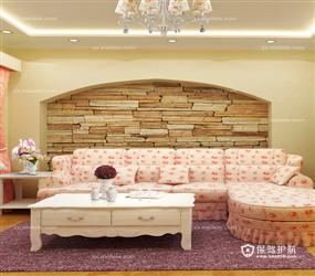 具有立体感的韩式客厅装修