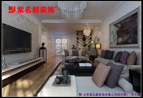 华润橡树湾140平现代风格