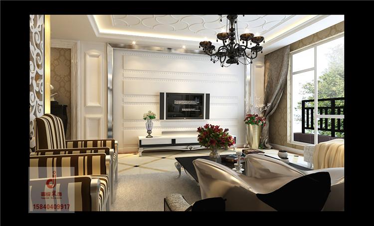 《晋级装饰》中海城148平三居室新古典风格设计效果图