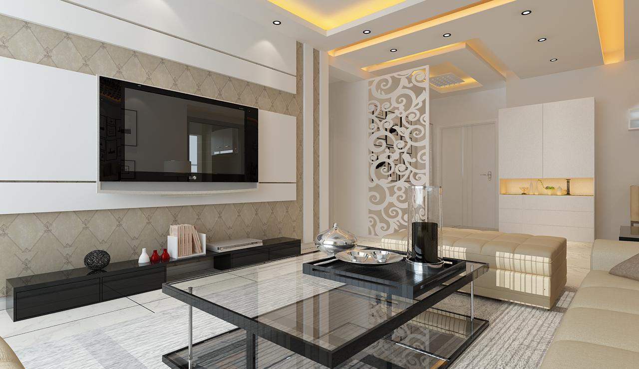《晋级装饰》SR新城现代简约风格效果图 130平三居室简约设计