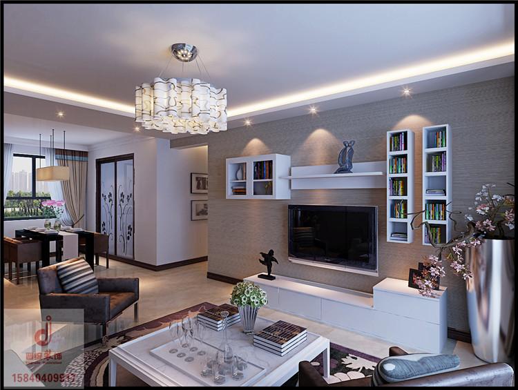 《晋级装饰》纳帕名门135平三居室现代简约风格设计效果图