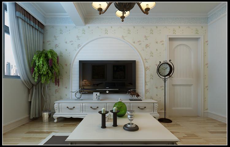 成涛绿锦国际85平地中海风格两室两厅