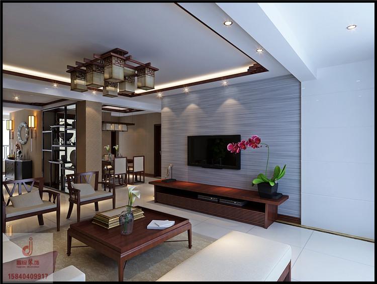 《晋级装饰》中海寰宇天悦效果图 130平三居室中式风格设计