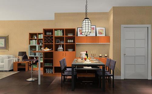 几款餐边柜装修效果图,适用于12平米餐厅