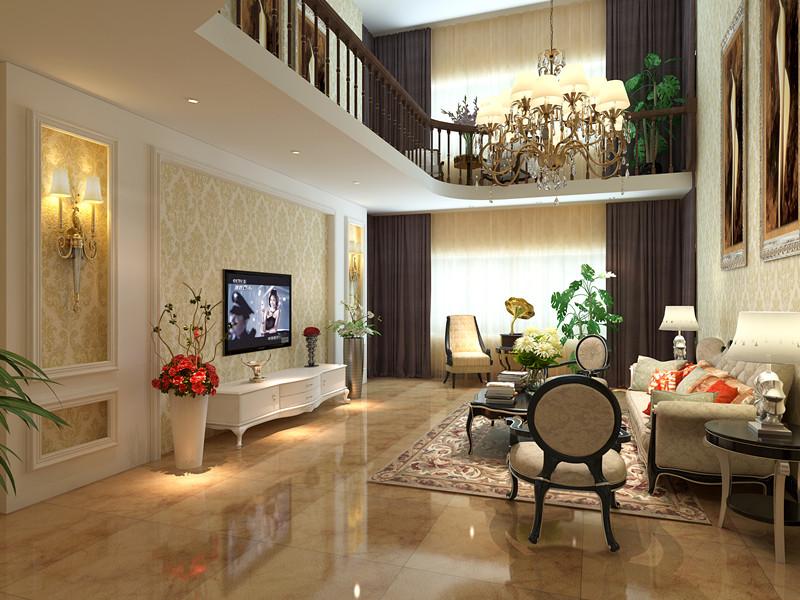 32万打造山水润城270平现代美式风格的家