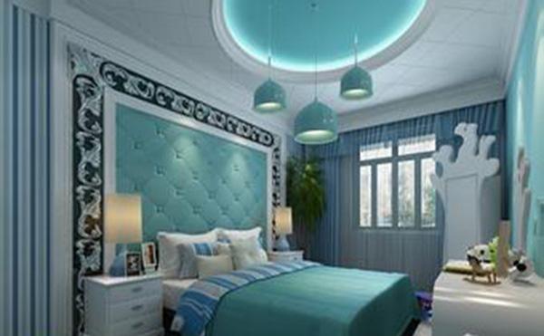 卧室 地中海风格与圆形吊顶的搭配