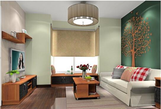 客厅沙发背景墙效果图:地中海风情沙发背景墙