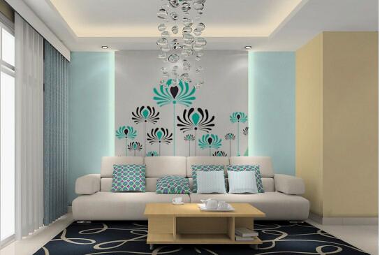 地中海风情沙发背景墙