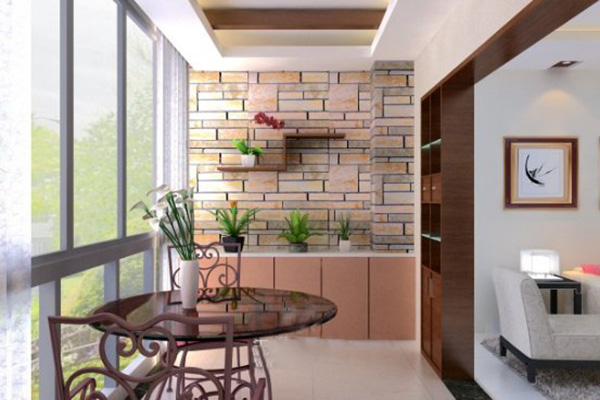 阳台墙面巧装饰,打造绿色阳台