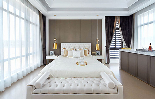 如果搭配带点欧式风格的床