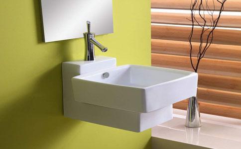 卫浴间挂式洗手盆介绍 挂盆如何安装