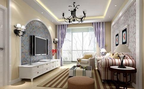 在现代家庭装饰中电视墙壁灯高度大多在:1.8-2