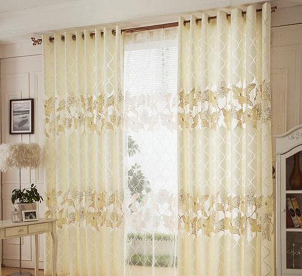 烂花窗帘家居装饰效果图欣赏