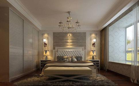 卧室床头壁灯安装位置选择方法图片