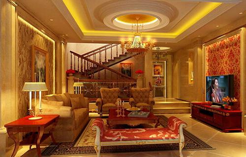 本欧式风格客厅,主体颜色为白色