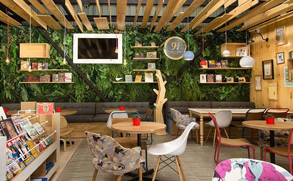 书店咖啡馆装修设计效果图