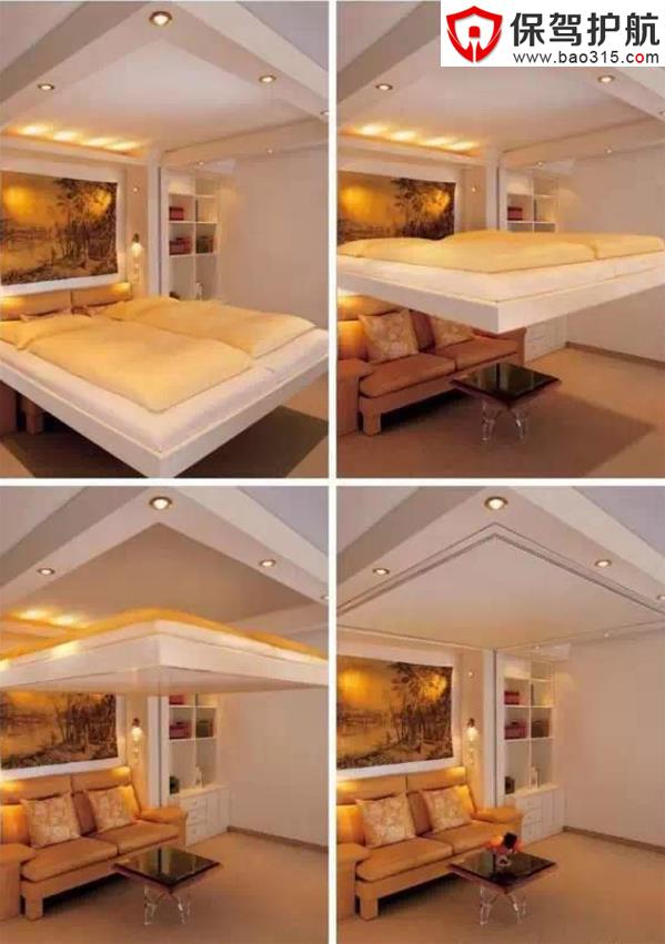 原来床还可以这样设计(二):节省空间的创意设计