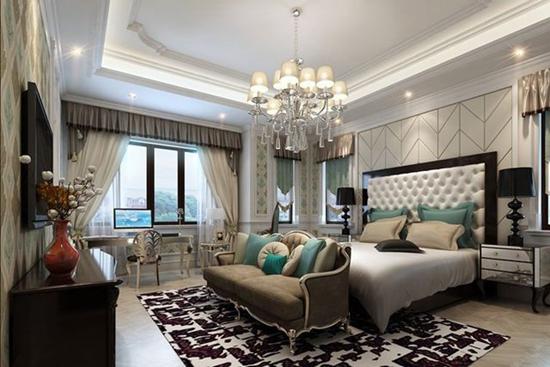 欣赏欧式风格卧室吊顶设计效果图