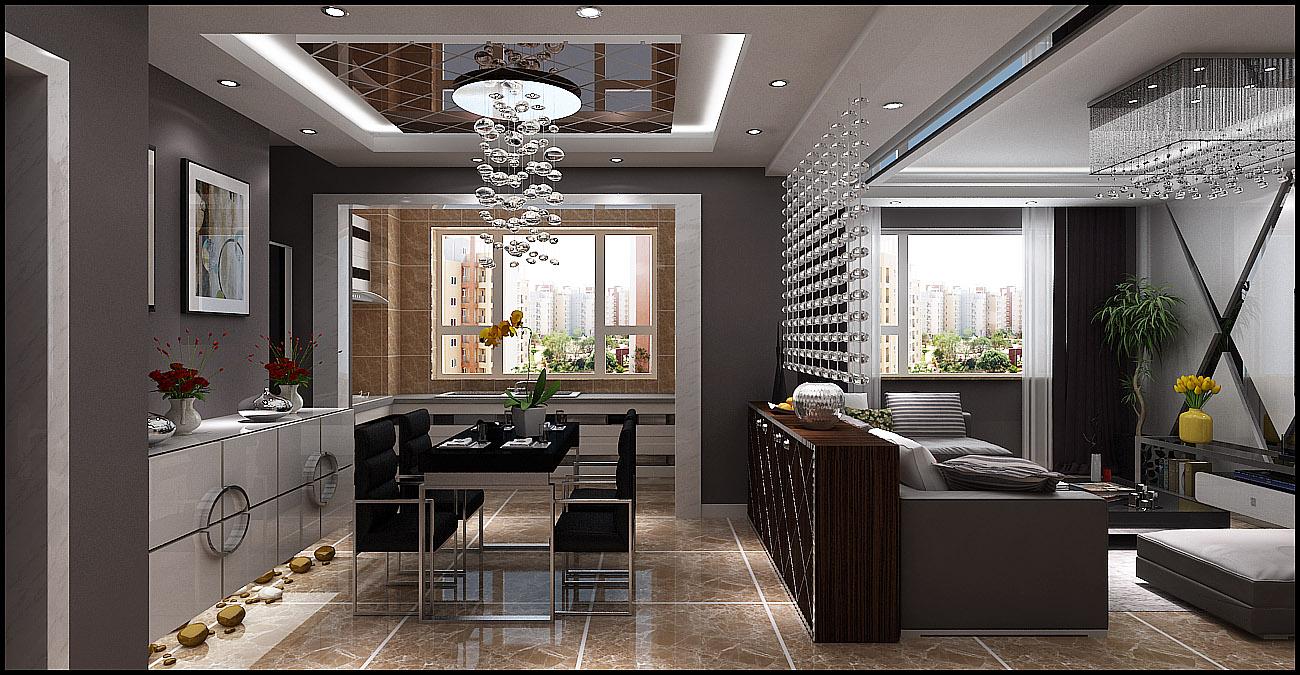 楼盘名称:别墅装修效果图—现代简约风