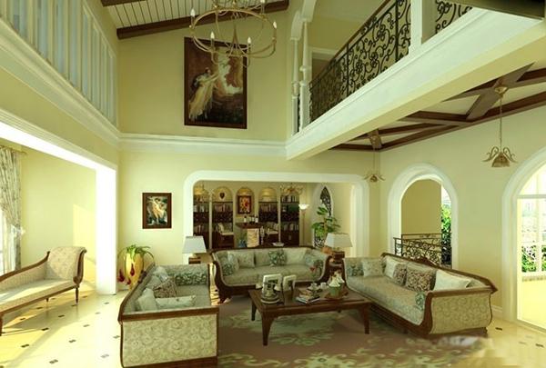 这是一个欧式风格自建别墅式楼中楼设计