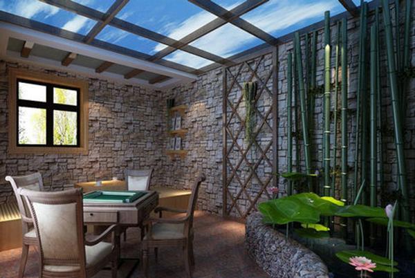 超级豪华别墅花园阳光房装修案例效果图欣赏高清图片