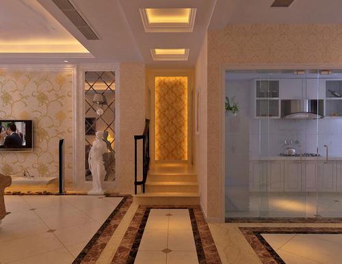 廊吊顶装修效果图四:简欧式走廊吊顶