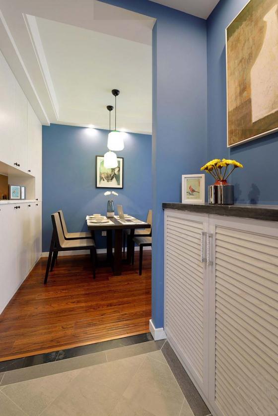 现代简约风格住宅室内客厅实景图