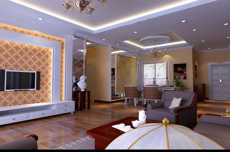 欧式风格-160平米三居室装修设计