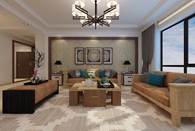 银丰唐俊桂花园190平35万打造新中式风格